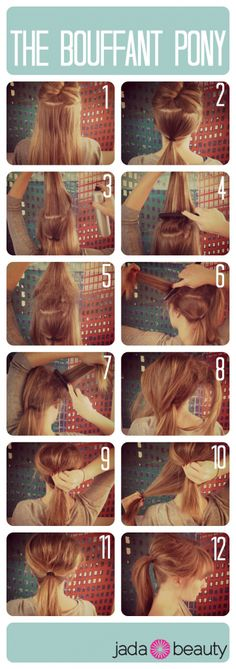 bouffant ponytail tutorial - jadabeauty.com
