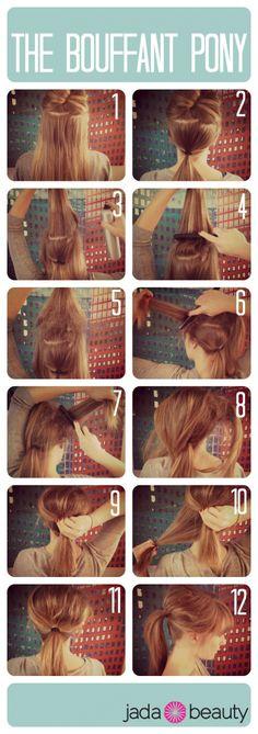 bouffant ponytail tutorial - jadabeauty.com