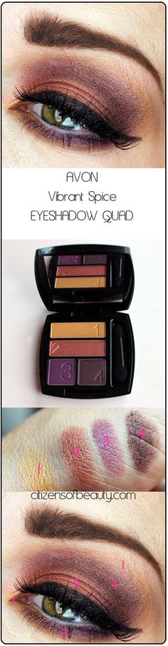 Avon Vibrant Spice Eyeshadow Quad - get this look and buy Avon True Color Eyeshadow Quads online at http://krislingsch.avonrepresentative.com