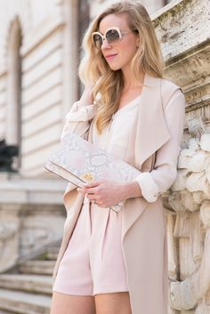 Our Lily Clutch in Pink Madera as styled by Meagan's Moda