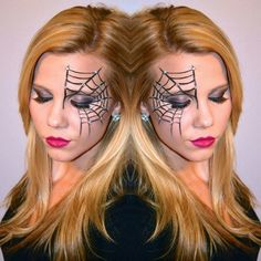 I couldn't help myself! Another Halloween look on the blog tomorrow! Details to come! #makeup #makeuplook #halloween #halloweenmakeup #happyhalloween #instamakeup #spiderwebmakeup #spidergirl #spider #holhalloween14 #bblogger #glamglitterandgloss #studiostylenyc #lashes