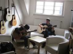 Sungha Jung with Teacher Wallpaper Teacher Wallpaper, Conference Room, Guitar, Table, Furniture, Home Decor, Homemade Home Decor, Meeting Rooms, Mesas