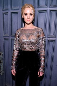 Jennifer Lawrence attends The Dinner For Equality co-hosted by Patricia Arquette and Marc Benioff on February 25, 2016 in Beverly Hills, California.