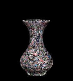 Millefiori #Vase | Corning Museum of #Glass Glass Vessel, Glass Art, Corning Museum Of Glass, Antique Art, Floral Motif, Different Colors, Home Accessories, Art Decor, Bubbles