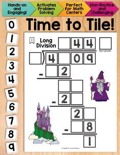 Long Division Coloring Worksheets Standards Met