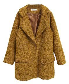 Lapel Collar Thicken Tweed Coat