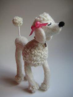 Needle Felted French Toy Poodle MelaniesMenagerie on Etsy
