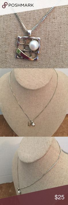 Necklace Sterling silver solid and gold 🌺 Necklace Sterling silver solid 925 and gold 14k🌺 Perls authentic 💎 Jewelry Necklaces