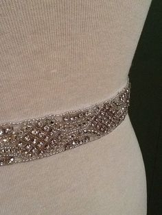 All around beading Bridal belt wedding belt by MyMothersDaughter60