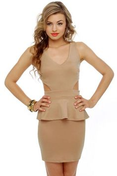 oooh taupe dress