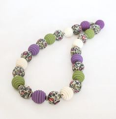 Polymer Clay Beaded Necklace  Liberty of London  by Lottieoflondon, £22.00