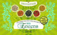 """""""Le coffret des pouvoirs magiques des Encens"""", un livre + 5 sachets d'encens en grains + 10 pastilles de charbon, éditions Trajectoire, 128 p."""