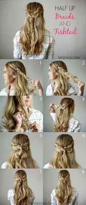 17 Most Gorgeous Braided Hairstyles Easy Boho Of Nowadays, hairstyles bohemian 17 Most Gorgeous Braided Hairstyles Easy Boho Of Nowadays, # Braids easy fishtail Bohemian Hairstyles, Fancy Hairstyles, Popular Hairstyles, Bride Hairstyles, Headband Hairstyles, Gorgeous Hairstyles, Damp Hair Styles, Curly Hair Styles, Prom Hair Updo