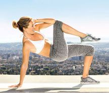 Awesome Abs without Crunches: these moves work the transversus abdominis (deeper muscles that wrap around your trunk) as well as the obliques along your sides. Translation: a tinier waist, a flatter middle and sexy definition—fast!