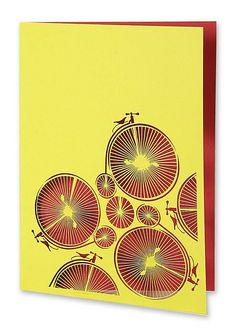 two tone penny farthing card