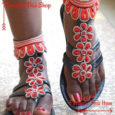 Items similar to African Elephant BAREFOOT SANDALS Macrame Barefoot Sandals African Clothing Godess Bohemian Sandals Hand made in South Africa festival on Etsy Bohemian Sandals, Bare Foot Sandals, Greek Sandals, Flat Sandals, Leather Sandals, Beaded Sandals, Balenciaga Shoes, Clearance Shoes, High Heel Pumps