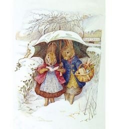 Beatrix Potter-Peter in the Snow
