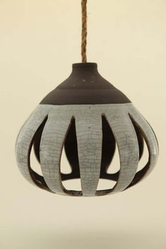 Heather Levine's ceramic hanging pendant lights