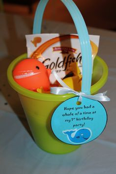 Pool Party Gift Bag Ideas 208 best images about beach pool summer surf party ideas on pinterest beach cakes kids beach party and beach ball birthday Party Favors For The Kids I Found A Bag Of 3 Whale Bath Toys At