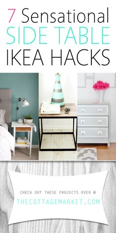 7 Sensational Side Table IKEA Hacks - The Cottage Market