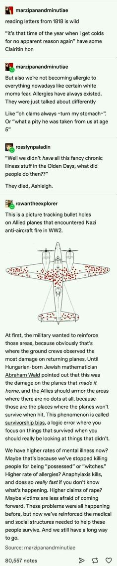Survivorship Bias - - It all a matter of the point of view The More You Know, Good To Know, Guter Rat, Memes, Was Ist Pinterest, Faith In Humanity, My Tumblr, History Facts, Text Posts