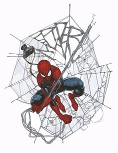 Spider-Man by Travis Charest ✤ || CHARACTER DESIGN REFERENCES | キャラクターデザイン • Find more at https://www.facebook.com/CharacterDesignReferences if you're looking for: #lineart #art #character #design #illustration #expressions #best #animation #drawing #archive #library #reference #anatomy #traditional #sketch #development #artist #pose #settei #gestures #how #to #tutorial #comics #conceptart #modelsheet #cartoon || ✤