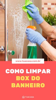 Dicas de como limpar o box do banheiro Cleaning Recipes, Cleaning Hacks, Woodworking Shop, Woodworking Crafts, Wooden Shelves, Home Hacks, Diy Crafts To Sell, Organization Hacks, Clean House