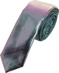 Men's Spring Fashion: Holographic Trend! Lanvin Lacquer Dipped Repp Tie