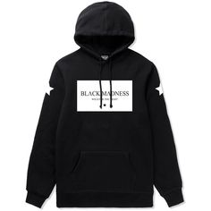 Black Madness Hoodie Dream Apparel (169.850 COP) ❤ liked on Polyvore featuring tops, hoodies, hoodie top, logo hoodie, sweatshirt hoodies, logo hoodies and hooded pullover