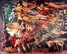 "Michael (Corinne) West, COMMANCHI, 1960. Oil on canvas. 50""x 60"". http://www.nyschoolartgallery.com/"