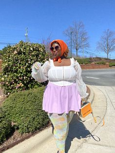 """dash • they/them on Twitter: """"spring time 🌸… """" Curvy Girl Outfits, Dope Outfits, Plus Size Outfits, Fat Fashion, Black Girl Fashion, Plus Fashion, Tiger Beat, Mode Plus, Plus Size Girls"""
