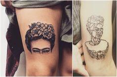 Frida Kahlo fue una de las mujeres más fascinantes del último siglo. Sus pinturas, historia y filosofía de vida han inspirado a miles de personas alrededor del mundo, al grado de llevar en la piel sus obras, frases y retratos.Como muestra de ello están las siguientes fotos de personas reales con tatuajes de&nb Cool Tattoos, Tatoos, Tattoo Designs, Tattoo Ideas, Tattoo Inspiration, Henna, Tatting, Piercings, Nature Inspired