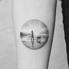 Walk on the beach by Amanda Piejak