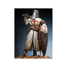 Holy Land Templar Knight with turban, XIII Century