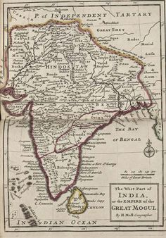 India historical map mogul - Maps of India India World Map, India Map, Kashmir Map, Old Maps, Historical Maps, Rare Pictures, Vintage Maps, Incredible India, Beautiful Paintings