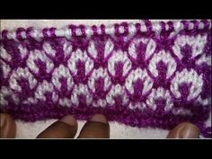 Easy Two Color Knitting Pattern No.22  Hindi
