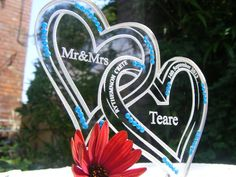 www.cakesteelstanding.co.uk Our Own Design Entwined Hearts Made to order Only with Genuine Swarovski Crystals