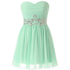 TopPromDress Women's Short Mint Plus Size Bridesmaid Dresses With... ($60) ❤ liked on Polyvore