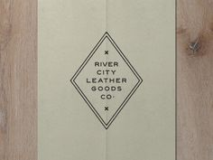 Nº 002 | Jessie Jay Design For River City Leather by Jessie Jay Architectural Elements, Leather Design, Modern Man, Jessie, Typography Design, Jay, The Balm, Graphic Design, River