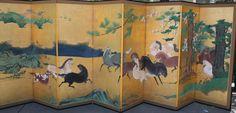 8 panel Horse Screen, Edo Period