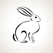 Image result for bunny outline tattoo