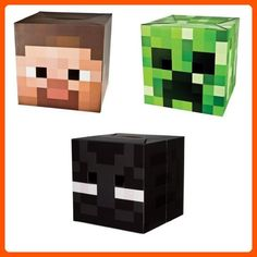 Official Exclusive Steve, Creeper & Enderman Head Costume Mask Set - Fun stuff and gift ideas (*Amazon Partner-Link)