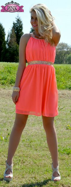 Head Over Heels Neon Dress $42.00