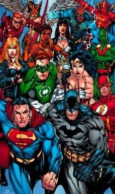 Justice League Of America - DC Comics Poster (The Heroes - Superman, Batman, Green Lantern, Wonder Woman, Flash...) (Size: 60cm x 90cm )