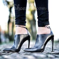 Shoespie Stylish Ankle Wrap Stiletto Heel Ankle Boots