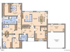 Kern-Haus Trio Grundriss Erdgeschoss