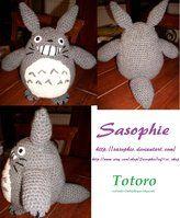 Totoro crochet pattern by ~Sasophie on deviantART