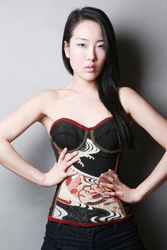 Asian vintage bustier http://www.deborahlindquist.com #vintage #bustier #asian #limitededition #ecofriendly #ecofashion #deborahlindquistecocouture