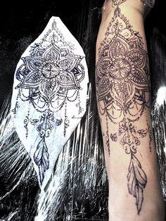 mandala design for girl - tattoo
