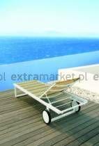 Leżak ogrodowy STRIPE aluminium 200x70x36 cm - extramarket.pl